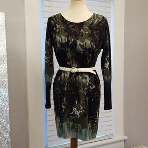Nic + Zoe Floral Sweater Dress, Size L